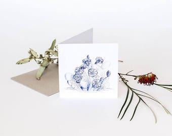 Greeting Card - Blue Cactus Illustration