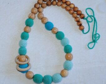 ECO Breastfeeding Nursing Necklace, Teething Toy,Trendy Jewelry Modern Mom Hipster Jewelry