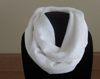 White infinity scarf