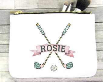 Golf Gift Golf Bag Golf Tote Golf Makeup Bag Golf Cosmetic Bag Personalized Cosmetic Bag Personalized Makeup Bag RyElle Make-up Bag Golf
