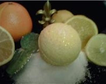 "Bath Bomb ""POCKET OF SUNSHINE"" Fairy Fizzie Bath Ball with lemon and orange essential oil"