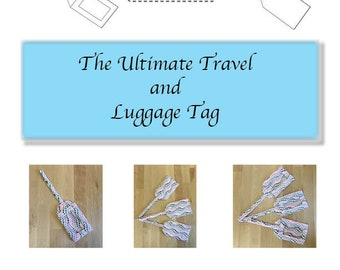 The Ultimate Travel and Luggage Tag, Business Card Holder, PDF Sewing pattern