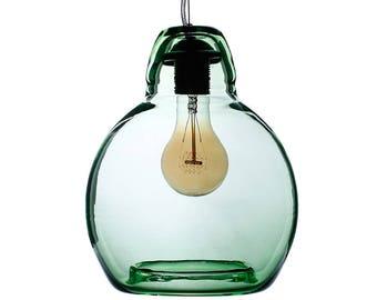 Blown glass pendant, handmade lighting, original gift