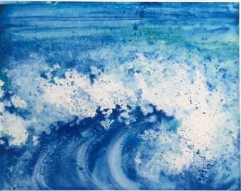 11x14 Blue Ocean Wave Print
