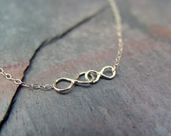Some infinities, Necklace, Sterling Silver, Infinity, gift, Girlfriend gift, gift under 30