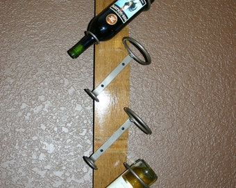 Wine Barrel Stave Wall Wine Rack ~ Reclaimed ~ Repurposed ~ Bridal Shower ~ Wedding Gift ~ Wine Lovers Gift ~ Reduced Pricing!