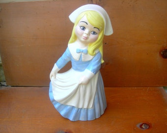 Vintage danish dutch figurine tall large swiss miss dutch
