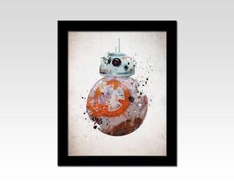 Star Wars inspired BB8 abstract print