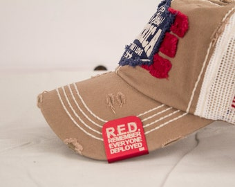Hat clip Remember Everyone Deployed