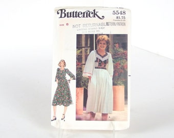 Uncut Vintage 1970's Sewing Pattern, Butterick 5548, Bust 31.5 Inches, Size 8