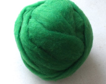 Polypay Wool Roving for Spinning -- Emerald