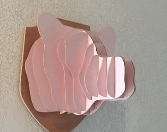Bear head trophy