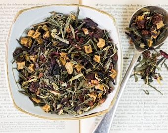 Green Tea blend, Strawberry Green Tea, Fruity green tea, Loose Leaf Tea