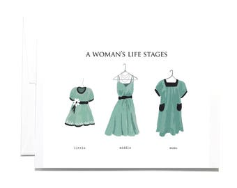 Greeting Card Stages Dresses