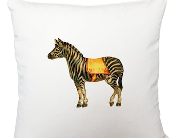 Cushions/ cushion cover/ scatter cushions/ throw cushions/ white cushion/ circus zebra cushion cover