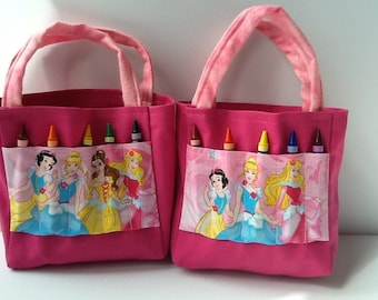 Princess Children's Crayon Bag and Customized Paper / Birthday Party Favors