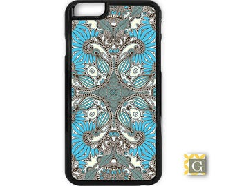 "iPhone X Case, iPhone 8 Case, Galaxy S8 ""Blue Gray Paisley"""