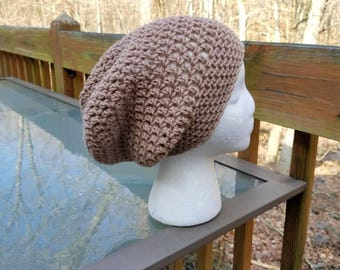 The Sparrow Slouchy Beanie in Soft Taupe - Ready to Ship