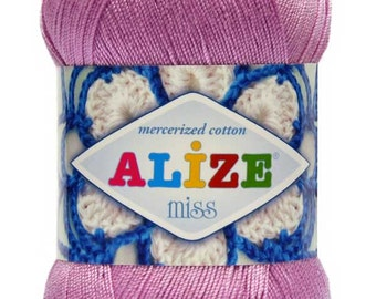 MİSS Alize 100% mercerized cotton yarn for crochet and knitting  50g - 280m