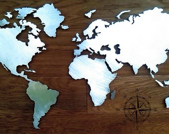 WORLD MAP METAL Kit!!!  Design Card 2 mm sheet!!!   100 cm