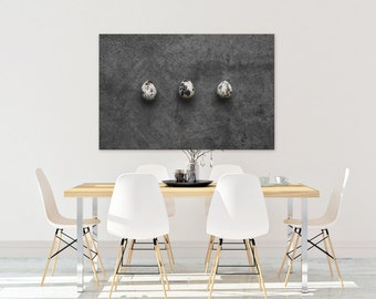 quail egg v. two // food photography print // canvas print // kitchen wall art // dining room wall art // rustic wall art // egg print