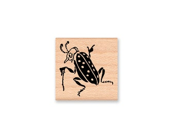 BEETLE BUG-Wood Mounted Rubber Stamp (MCRS 27-15)