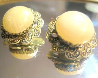 kostenlos versand ANTIK GERMAN OHRCLIPS Vintage perle ohrstecker alte ohrringe Deutschen tradition schmuck antik filigran