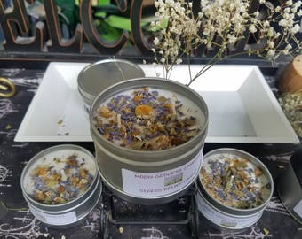 Stress Relief Candle, Lavander Chamomile and Bay leaf Candle