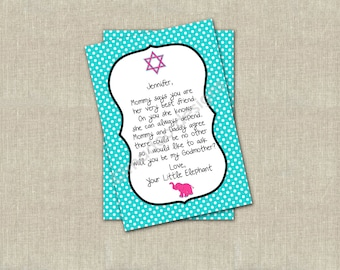 Godmother card - Will you be my godmother?  Customize with any Religion and Theme.