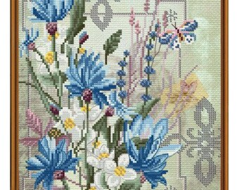 Cross Stitch Kit Flowers of goodness