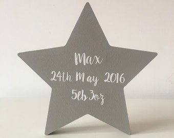 Personalised Star Birth Details Perfect New Baby Gift Christening Gift