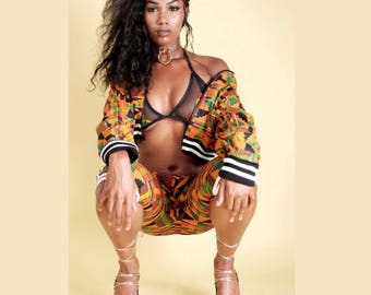 Kente Crop Jacket