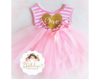 First Birthday Outfit Girl,First Birthday Dress,Cake Smash Outfit,1st Birthday Girl Outfit,Birthday Girl Dress,Pink and Gold Birthday