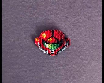 Samus Aran Helmet pin - Super Metroid