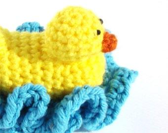 Crochet Baby Gift Pattern - DIY Bathroom Decor - Crochet Duck Pattern - Amigurumi Pattern - Washcloth Pattern - Crochet Pattern