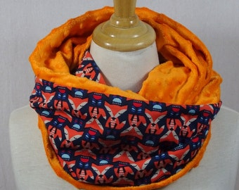 jersey blue and orange Fox Snood scarf