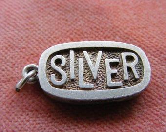F) Vintage Sterling Silver Charm Silver Ingot 1/4oz