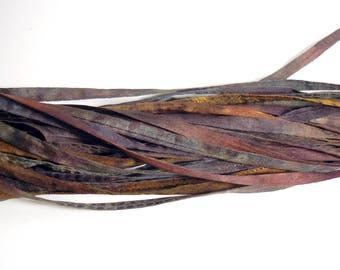 5PC. OLD PENNIES Hand Dyed Silk Cording//4MM Hand Dyed DIY Silk Necklace/Bracelet Cording//Hand Dyed 5PC. Silk Cording Bundles