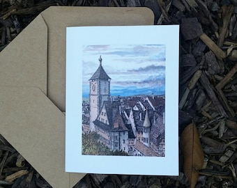 Freiburg, Germany Gift Card Set (5 cards with envelopes) A2 size