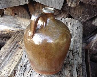 Whiskey Jug Rustic Jug Wood Fired Pottery