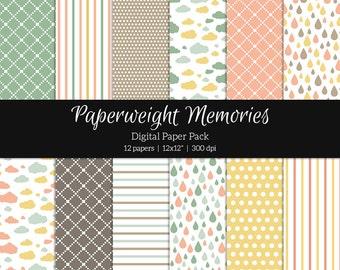 "Digital patterned paper - I Feel Pretty -  digital scrapbooking - patterned paper - scrapbook papers - 12x12"" 300dpi  - CU ok"