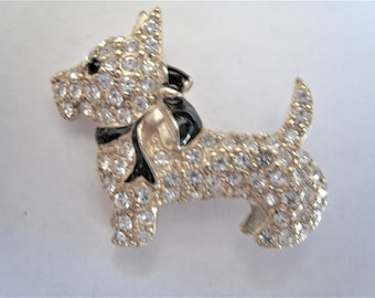 Rhinestone  Dog Pin