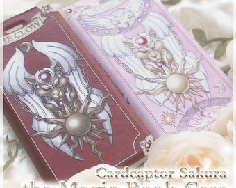 Cardcaptor Sakura the Clow Card and Sakura Card Magic Book PU leather iPhone Case / iphone 6s / iphone 6s plus / iphone 7 / iphone 7 plus