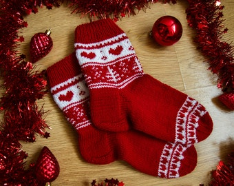 Warm Socks for your Loved Ones. Valentines Day Gift. Christmas Socks.