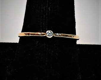 Diamond Stacking Ring, Diamond Ring, Gold and Diamond Ring, Gold Diamond Stacking Ring, Diamond Promise Ring