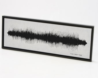 The First Time - Song Wall Art Print, Sound Wave Wall Art Print, Framed Print, Canvas