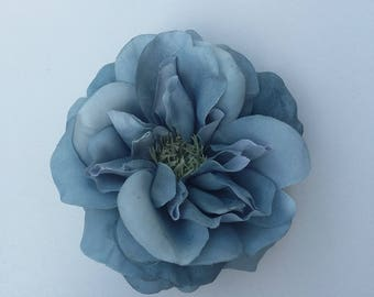 Antique Blue Rose - millinery - home decor - bridal - hair accessories