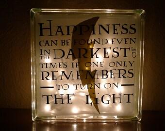Harry Potter Albus Dumbledore Happiness Quote Nightlight