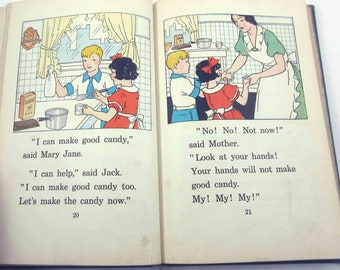 Reading for Fun Vintage 1930s Children's Reader or Textbook by Houghton Mifflin