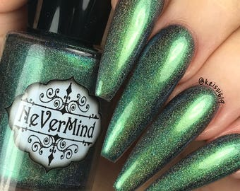 Aamon - Chameleon Holographic Nail Polish - Multichrome - Green Blue Gold Shift - Daemonum Collection